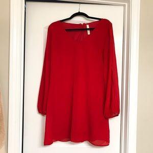 My Beloved Red Open Sleeves Dress medium